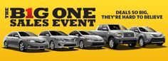Hurry in to Ernie Palmer Toyota for the BIG One Sales Event!: Ernie Palmer Toyota Blog