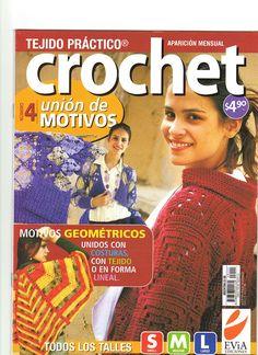 "Photo from album ""Tejido practico Crochet on Yandex. Crochet Chart, Crochet Stitches, Knitting Magazine, Crochet Magazine, Crochet Cardigan, Knit Crochet, Crochet Books, Journal, Livros"