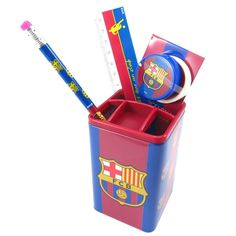 School set 'Fc Barcelona' red blue. * Review more details here : Decor Collectible Buildings and Accessories