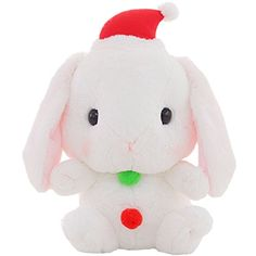 TOLLION Cuddly Big Soft Deals Toys 16 White Christmas Bunny Rabbits Toys Stuffed Animal Cushion Plush Doll Toys Gift Easter Bunny *** Check this awesome product by going to the link at the image.
