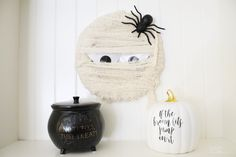Supplies For Arts And Crafts Mummy Crafts, Halloween Crafts For Kids, Halloween Decorations, Halloween Wreaths, Halloween Projects, Mesh Wreaths, Holiday Wreaths, Kid Crafts, Holiday Crafts
