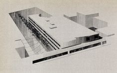 """Venturi and Rauch. Architectural Record. Oct 1974: 120  """"The Humanities Building for the Purchase Campus of the State University of New York…Outside the large lecture hall there is a high, narrow gallery…This is, to borrow from the architects' terminology, the only 'rhetorical' space in the building."""""""