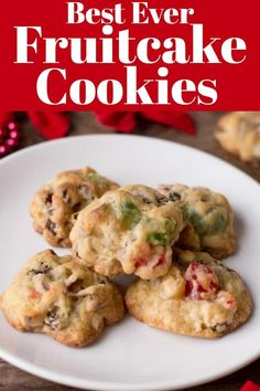 Best Ever Fruitcake Cookies tastes like Christmas in a bite! You will want to make a double batch! Best Ever Fruitcake Cookies tastes like Christmas in a bite! You will want to make a double batch! Fruit Cake Cookies Recipe, Yummy Cookies, Cookie Recipes, Ginger Cookies, Cookie Cakes, Sweet Cookies, Cookie Ideas, Sweets Recipes, Chip Cookies
