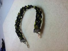 Wire kumihimo bracelet