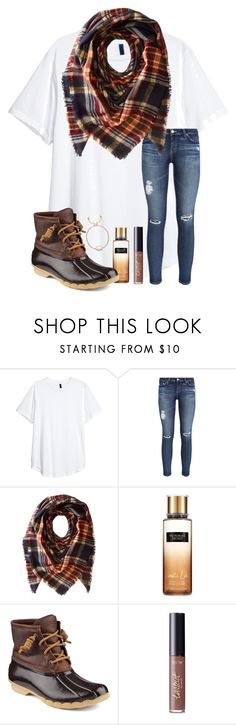 """""""haven't posted in a while 😚"""" by samanthars ❤ liked on Polyvore featuring AG Adriano Goldschmied, Collection XIIX, Victoria's Secret, Sperry, tarte and Kendra Scott"""