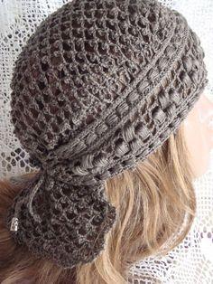 Crochet Snood, Filet Crochet, Crochet Stitches, Knitted Hats, Crochet Summer Hats, Summer Knitting, Sombrero A Crochet, Summer Hats For Women, Crochet Woman