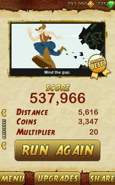Best run ever. BEAT THAT