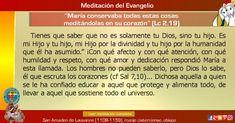 """MISIONEROS DE LA PALABRA DIVINA: MEDITACIÓN DEL EVANGELIO - """"María conservaba todas..."""
