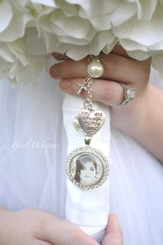 Bridal Bouquet Charm   Wedding Bouquet  Pendant  by PetalWhispers I would need two pendant for my two cousins who I was going to have walk me down the aisle