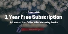 Creating hype about your startup? Make an ENTIREyear of business videos for free. Enter to win a 1-Year Subscription from AdLaunch.