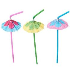 Hibiscus Parasol Straws (1 dz)