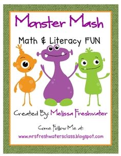 My monster theme unit includes 102 pages of monstrous activities centered on different math and literacy activities. (There are 13 literacy and 10 ...
