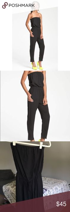Mimi Chica • NWT strapless black jumpsuit Super cute and simple black jumpsuit Mimi Chica Pants Jumpsuits & Rompers