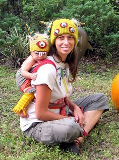 Two headed monster babywearing costume last Halloween