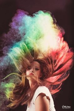 Self portrait, baby powder photoshoot, can you paint with all the colors of the wind?