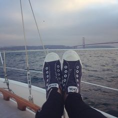THIS is where the party girls come to wind down. Navy everything and just a quiet party for one #SF #mySF #goldengate #myhappyplace #partygirls #happiness #navyeverything #PackedParty