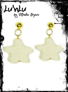 White earrings Lu'nLu