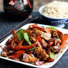 Stir-Fried Chicken with Chinese Garlic Sauce @keyingredient #chicken