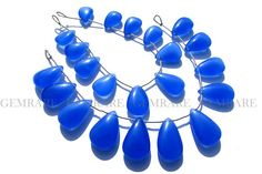 Semiprecious Gemstone Blue Chalcedony Beads Pear beads #bluechalcedony #bluechalcedonybead #bluechalcedonybeads #bluechalcedonypear #pearbeads #beadswholesaler #semipreciousstone #gemstonebeads #gemrare #beadwork #beadstore #bead