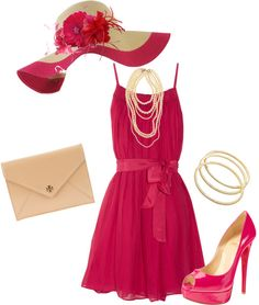 """""""Kentucky Derby Pink"""" by verydefinitely on Polyvore"""