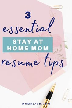 Take a look at these top 3 essential stay at home mom resume tips! If you are a stay at home parent who is looking to go back to work then you'll need these tips to help you create the perfect resume. #workingparents #resume #resumetips #careertips Resume Writer, Resume Skills, Resume Tips, Online Careers, Parent Volunteers, Perfect Resume, Get Back To Work, Volunteer Work, Looking For A Job