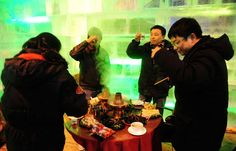 Eating Hot Pot in the ice house, Harbin