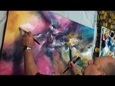 Abstract Art painting 'VERTIGO' Color Explosion Modern Mix Lang How to DEMO - YouTube