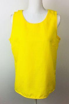 J. Crew Factory Yellow Top Sleeveless Blouse Shell Size 14  | eBay