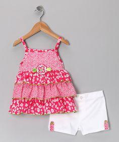 Kids Headquarters - Red Ruffle Tunic & Shorts - Toddler