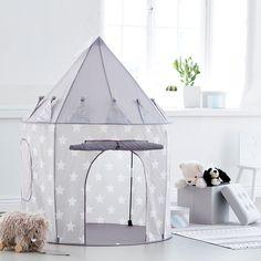 Das tolle Spielzelt mit coolen Sternen in grau von Kid's Concept bringt eine Menge Spaß. Durch das schöne Designsieht es einfach bezaubernd aus und garantiert viele schöne Spielstunden. Es kann im Haus oder im Garten verwendet...