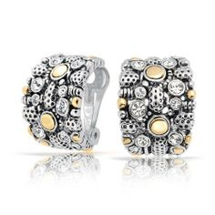 Bling Jewelry Gold Plated Rhodium Plated Brass Two Tone Crystal Half Hoop Clip On Earrings >>> Very kind of you to have dropped by to visit our picture. (This is an affiliate link) Black Earrings, Clip On Earrings, Women's Earrings, Pierced Earrings, Wedding Earrings, Heart Earrings, Crystal Earrings, Bling Jewelry, Body Jewelry