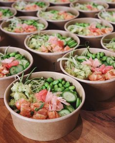 10 x Makkelijke & Snelle Poké Bowl Recepten Healthy Snacks, Healthy Eating, Healthy Recipes, Food Bowl, Sashimi, Asian Recipes, Food Inspiration, Love Food, Tapas