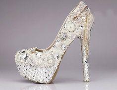 glitter bridal footwear