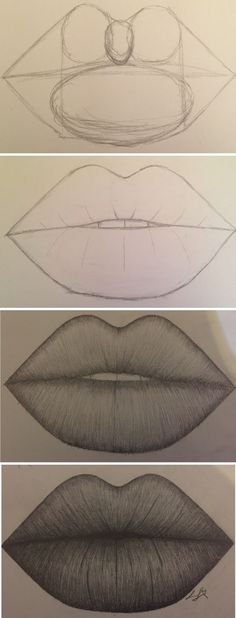 how to draw lips don't mess up please