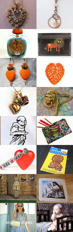 **♥** Lion Heart **♥** by Roee on Etsy--Pinned+with+TreasuryPin.com