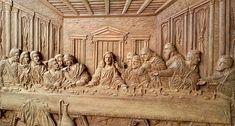 Resultado de imagem para quadro da santa ceia em madeira Wood Carving, Woodwind Instrument, Craft, Wood Sculpture, Wood Carvings, Woodcarving, Wood Turning, Carving Wood, Wood Engraving