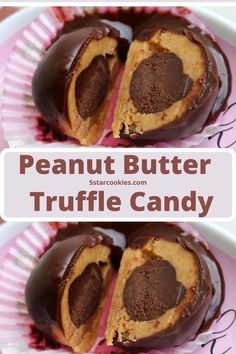 Peanut Butter Chocolate Truffle Candy-If you are the peanut butter chocolate lover …you are welcome. Thils is your simple, easy and no bake recipe. The ingredients are peanut butter, chocolate, graham crumbs,icing sugar, heavy cream. Enjoy this amazing peanut butter recipe with all peanut butter lovers and chocolate lovers. #peanuts #chocolate