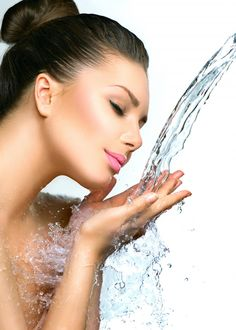 Beautiful Model Woman with splashes of water in her hands. Beautiful Smiling girl under splash of water with fresh skin over blue background. Skin care Cleansing and moisturizing concept. Rings, Blog, Jewelry, Jewlery, Jewerly, Ring, Schmuck, Jewelry Rings, Blogging