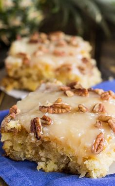 Pineapple Sheet Cake Recipe | Pineapple Sheet Cake flavored and moistened with crushed pineapple and topped with a sweet icing laced with shredded coconut, and sprinkled with pecans is a wonderful dessert to make to feed a crowd.