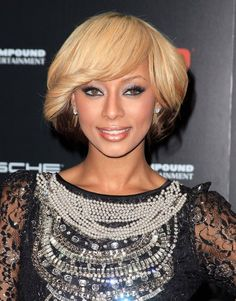 Keri Hilson short haircut with bangs