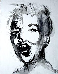 Questo volto fatto con inchiostro carta foderata su tela 25x33x2cm  è attualmente in Asta su Arte interni, Lotto n.50, puoi averlo facendo un rilancio a questo link  (attualmente sta a 50€): http://www.artinterni.com/aste/modulo_offerta.asp?asta=70&opera=6511