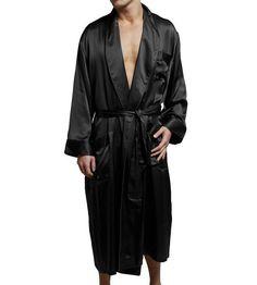 Intimo Luxe 100% Silk Robe Mens Black 2 pair Silk Boxer shorts Underwear Lot  #Intimo #Robes