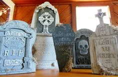How to doctor up store bought tombstones