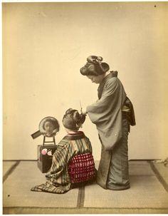 Japon, Coiffeuse #Asie_Asia #Japon_Japan