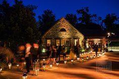 Lantern Pathway | Event Planning, Design and Floral Production: www.tracytaylorward.com | Photography: http://www.christianothstudio.com | Wedding Venue: Blue Hill at Stone Barns