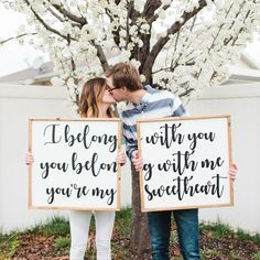 These home wood signs are absolutely the cutest ever! They would be perfect for my master bedroom. Master bedroom decor, home decor, wood signs, i belong with you you belong with me you're my sweetheart, home decorations, decorations, farmhouse decor, farmhouse decorations