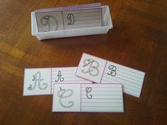 Travail complet sur Lettres majuscules cursives