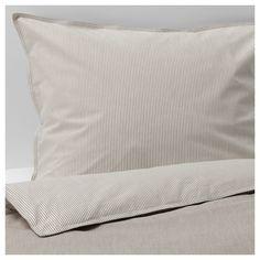 Sengetøj og lagner - Find pudebetræk og dynebetræk fra IKEA her Chambray, Natural Bedding, Luxury Bedding Sets, Bed Duvet Covers, Beige, Quilt Cover Sets, Queen Duvet, Soft Colors, Vivid Colors