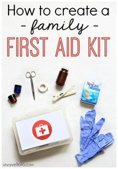 A family first aid kit is so great to have on hand or in your car.