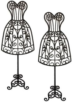 Dress form by laurel lane silhouette card sized 2pack